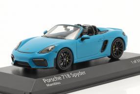 modelcars Porsche 718 Boxster Spyder 2020 1:43
