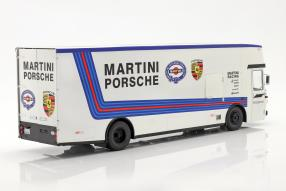 automodelli Mercedes-Benz O 317 Renntransporter Martini Porsche 1:18 CMR