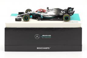 diecast miniatures Lewis Hamilton Mercedes-AMG F1 W10 Monaco GP F1 2019 1:18 Minichamps mit Klappbox