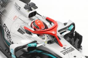 automodelli Lewis Hamilton Mercedes-AMG F1 W10 Monaco GP F1 2019 1:18 Minichamps mit Klappbox