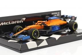McLaren MCL35 launch spec 2020 1:43 Minichamps