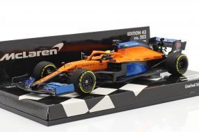 McLaren MCL35 Norris launch spec 2020 1:43 Minichamps