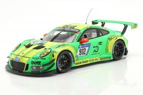 Porsche 911 GT3 R 991 No. 912 winner 24h Nürburgring 2018 Grello von Manthey Racing 1:18 Ixo