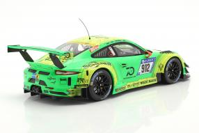 automodelli Porsche 911 GT3 R 991 No. 912 winner 24h Nürburgring 2018 Grello von Manthey Racing 1:18 Ixo
