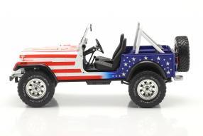 Airwolf diecast miniatures Jeep CJ Santini Air 1982 1:18 Greenlight