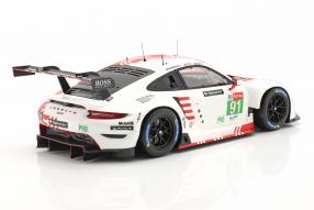 miniatures Porsche 911 RSR 2020 No. 91 1:18
