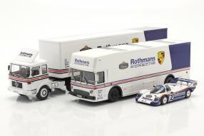 Renntransporter Set Porsche 1:43