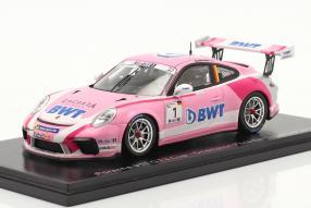 Aktuelle Neuheit von Spark: Porsche 911 GT3 Cup No. 1 Porsche Supercup Champion 2018 Michael Ammermüller Maßstab 1:43