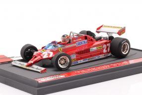 Ferrari 126CK No. 27 Villeneuve Monaco 1981 1:43 Brumm