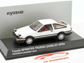 Toyota Sprinter Trueno (AE86) Headlights up weiß / schwarz 1:43 Kyosho