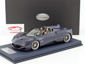 Pagani Huayra Roadster with showcase blue 1:18 LookSmart