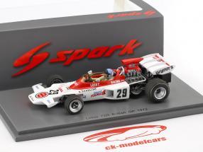 Dave Charlton Lotus 72D #29 British GP Formel 1 1972 1:43 Spark