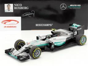 Nico Rosberg Mercedes F1 W07 Hybrid #6 Abu Dhabi GP campione del mondo formula 1 2016 1:18 Minichamps