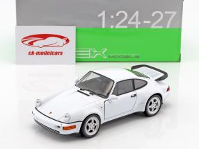 Porsche 964 Turbo year 2009 white 1:24 Welly