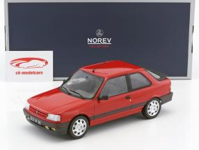 Peugeot 309 GTi year 1987 vallelunga red 1:18 Norev