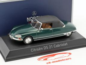 Citroen DS 21 Cabriolet year 1971 green metallic 1:43 Norev