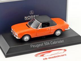 Peugeot 504 cabriolet année de construction 1970 orange 1:43 Norev