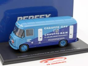 Citroen U23 Heuliez Fourgon bus ELM Leblanc year 1958 light blue / dark blue 1:43 Momaco