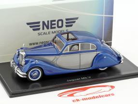 Jaguar MK V anno di costruzione 1950 blu metallico / argento 1:43 Neo