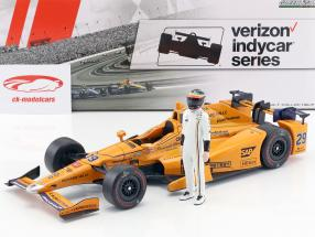 Fernando Alonso Honda #29 Indy 500 2017 with figure 1:18 Greenlight