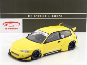 Pandem Civic (EG6) yellow 1:18 Ignition Model