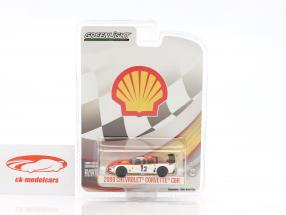 Chevrolet Corvette C6R #12 Shell Oil Baujahr 2009 weiß / orange 1:64 Greenlight