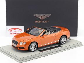 Bentley Continental GT V8 S Convertible sunrise gold metallic 1:18 BBR