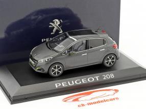 Peugeot 208 Baujahr 2015 dunkelgrau 1:43 Norev