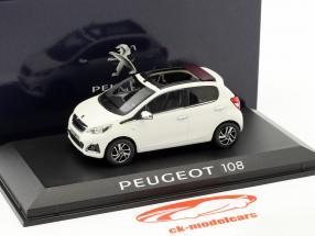 Peugeot 108 Baujahr 2014 weiß 1:43 Norev