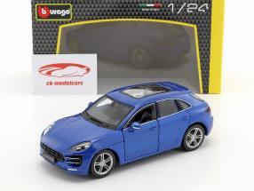 Porsche Macan bleu 1:24 Bburago