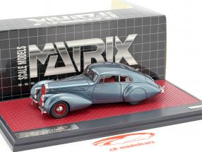 Delage D8-120 S Pourtout coupe year 1938 blue metallic 1:43 Matrix