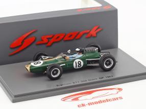 Dan Gurney Brabham BT7 #18 2 néerlandais GP formule 1 1963 1:43 Spark