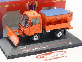 Multicar M25 Snowplow year 1980 orange 1:43 Ixo