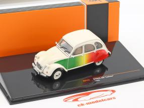 Citroen 2CV Lusitano year 1986 beige / green / red 1:43 Ixo