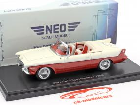 Chrysler Flight Sweep I year 1955 white / red metallic 1:43 Neo