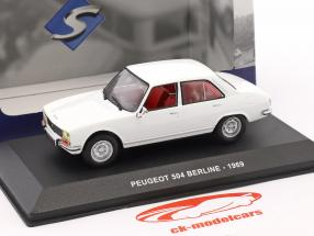 Peugeot 504 Berline year 1969 white 1:43 Solido