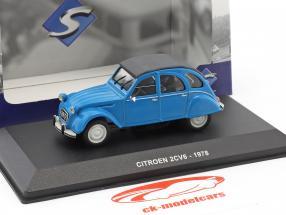 Citroen 2CV6 année de construction 1978 bleu 1:43 Solido