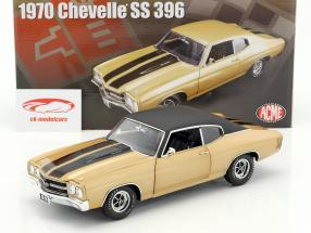 Chevrolet Chevelle SS 396 with vinyl top year 1970 desert sand / black 1:18 GMP