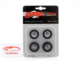 Chevrolet Drag Wheel and Tire Set 1:18 GMP