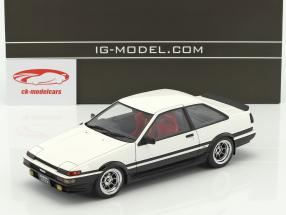 Toyota Sprinter Trueno (AE86) 2-Door GT Apex white / black with red seats 1:18 Ignition Model