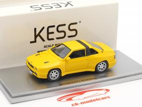 Maserati Shamal year 1988 yellow 1:43 KESS