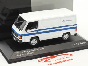 Mercedes-Benz MB 100 Kastenwagen Mercedes Service weiß / blau 1:43 WhiteBox
