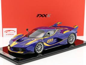 Ferrari FXX-K #81 blue / yellow 1:12 BBR