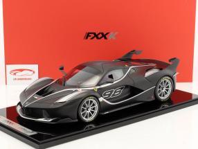 Ferrari FXX-K #98 mattschwarz/ silber 1:12 BBR
