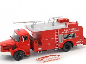 Berliet C.d.F. Chimie Usine de Drocourt fuoco camion rosso 1:43 Atlas