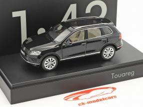 Volkswagen VW Touareg année de construction 2015 noir 1:43 Herpa
