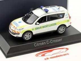 Citroen C-Crosser Ambulance SMUR de Montlucon year 2011 white 1:43 Norev