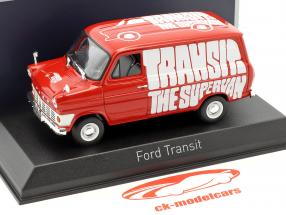 Ford Transit Transporter Baujahr 1965 rot 1:43 Norev