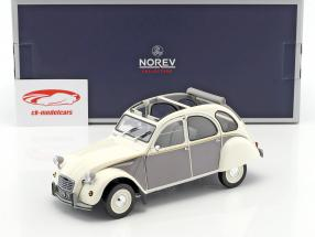 Citroen 2CV Dolly anno di costruzione 1985 bianco / grigio 1:18 Norev