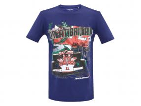 McLaren Greetings from Great Britain Emerson Fittipaldi McLaren M23 T-Shirt blau